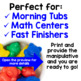 Morning Tubs | Math Centers with Counting Bears | Digital Google Slides