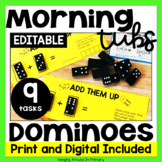 EDITABLE Morning Tubs | Math Centers with Dominoes | Digit