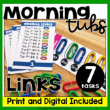 Morning Tubs | Math Centers with Links | Digital and PDF