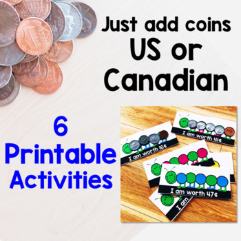 Morning Tubs with Money - US coins & Canadian Coins