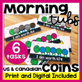 Morning Tubs | Math Centers for Money | Digital and PDF