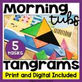 Morning Tubs | Math Centers with Tangrams | Digital and PDF