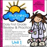 Morning Work 1st Grade Common Core ELA and Math - Morning Wake Up UNIT 1