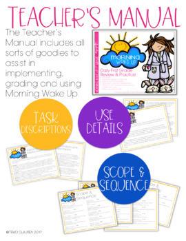 Morning Work - Morning Wake Up 1st Grade Common Core ELA and Math
