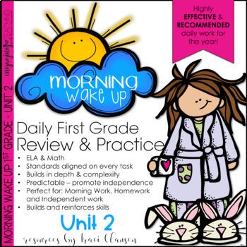 Morning Work - Morning Wake Up 1st Grade Common Core ELA and Math UNIT 2