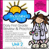 Morning Work 1st Grade Common Core ELA and Math - Morning Wake Up UNIT 2
