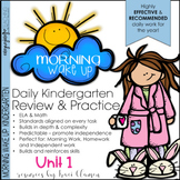 Morning Work Kindergarten Common Core ELA and Math - Morning Wake Up UNIT 1