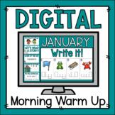 Morning Warm Up January - Preloaded Google Slides™