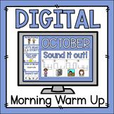 Morning Warm Up October - Preloaded Google Slides™