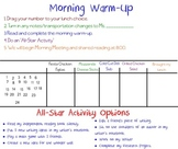 Morning Warm-Up SMART Board Slide