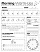 Morning Warm Up Worksheets 2nd 3rd 4th grades