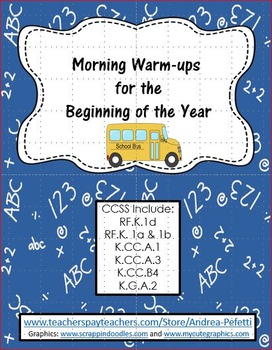 Morning Warm-Ups for the Beginning of the Year