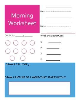 Morning Welcome Sheet