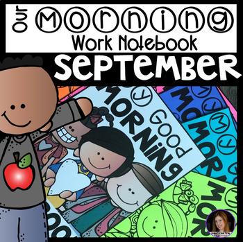 Morning Work Notebook Unit 1 Kindergarten {CCSS}