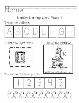 Morning Word Weeks 1-11