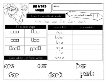 Morning Word Work - 47 pages of no-prep independent practice