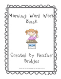 Morning Word Work: Black