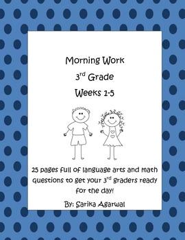 3rd Grade Morning Work Weeks 1-5