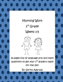 3rd Grade Morning Work Weeks 1-5