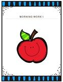 Morning Work 1