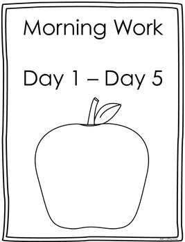 Morning Work- 1 Week