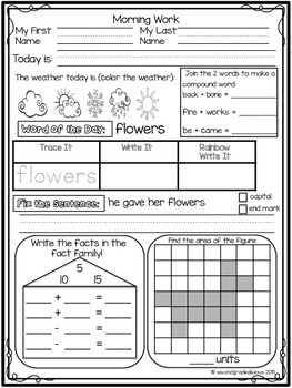 Morning Work for First Grade