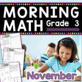 3rd Grade Morning Work / 3rd Grade Math Homework - NOVEMBER