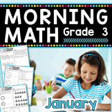 3rd Grade Morning Work / 3rd Grade Math Homework - JANUARY