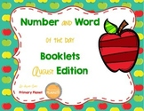 Number and word of the day! Number Sense and Vocabulary building morning work