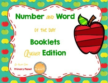 Number and Word of the Day Booklets!  August Edition.