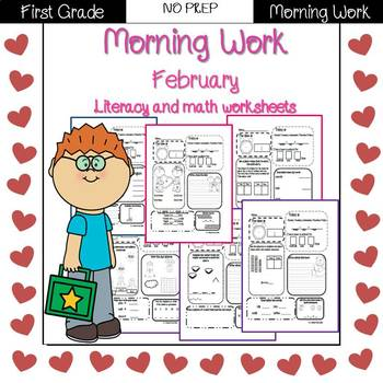 First Grade Morning Work {February}