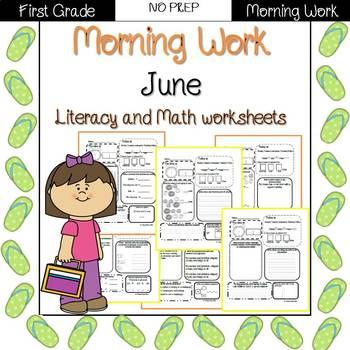 First Grade Morning Work {June}