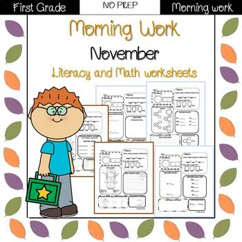 First Grade Morning Work {November}