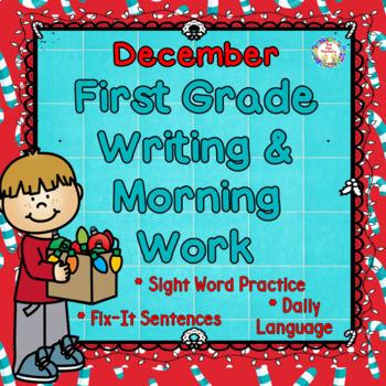 Morning Work 1st Grade~Writing, Sight Words~NO PREP JUST PRINT~Year's BUNDLE!