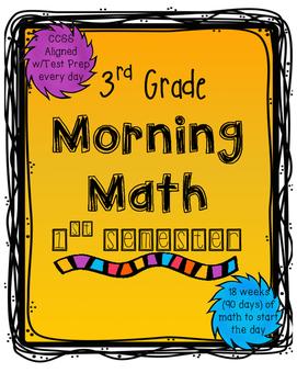 Morning Work: 1st Semester of 3rd Grade