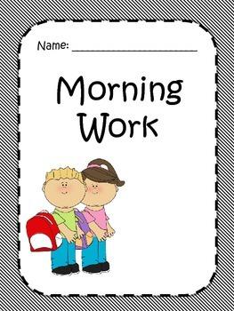Morning Work- 1st grade
