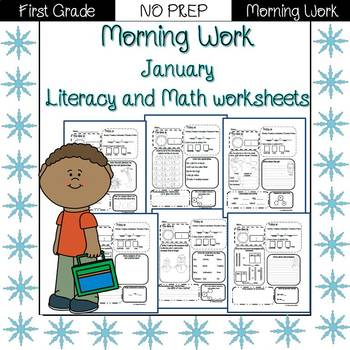 First Grade Morning Work {January}
