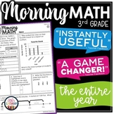 ⭐ Morning Work 3rd Grade ⭐ Spiral Review Math for Year-Round Math Test Prep