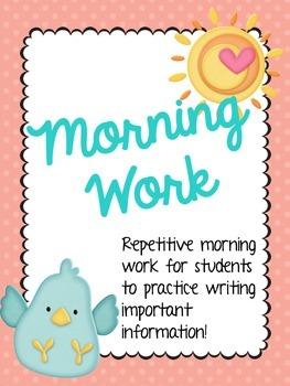 Morning Work!