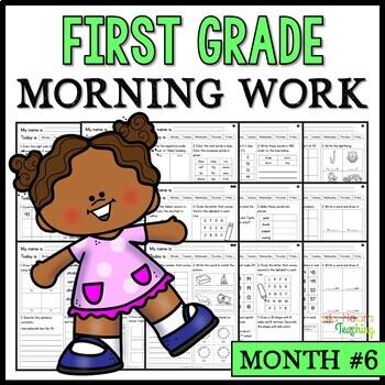 Month #6 Morning Work: First Grade Morning Work Packet