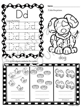 Kindergarten Morning Work: Literacy and Math (No Prep...Just print and go!)