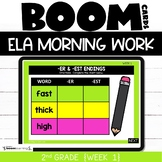 Morning Work 2nd Grade ELA Boom Cards Week 1
