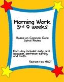 Morning Work 3rd 9 Weeks