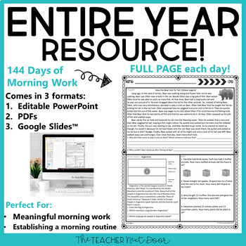 Morning Work 3rd Grade | Homework 3rd Grade