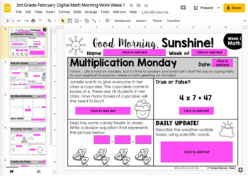 Morning Work 3rd Grade {February}