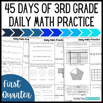 Daily Morning Work: 3rd Grade Quarter 1 - Math Practice