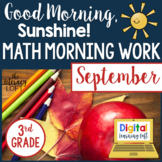 Morning Work 3rd Grade {September}