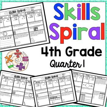 4th Grade Math: Skills Spiral (1st Quarter)