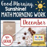 Math Morning Work 4th Grade {December}