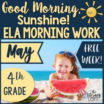 Morning Work 4th Grade ELA {FREEBIE}